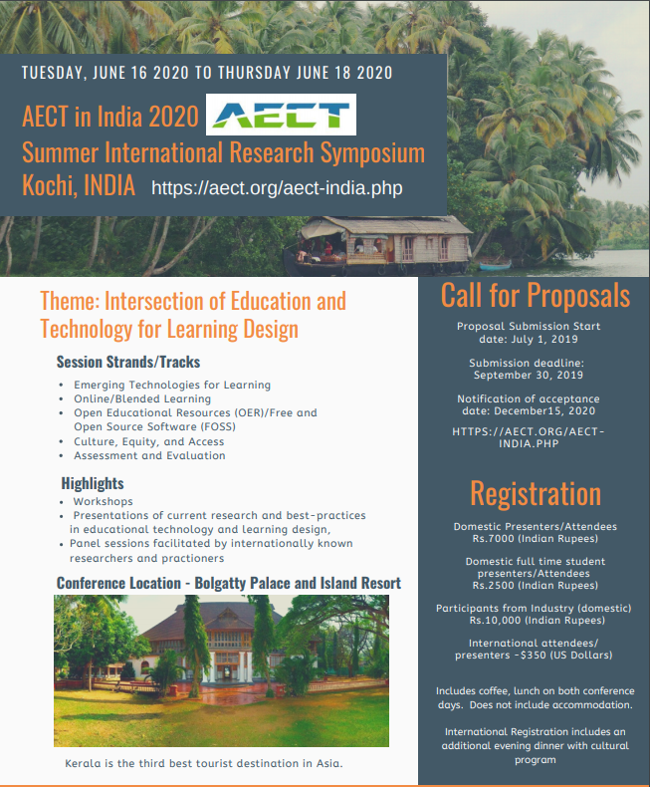 AECT-INDIA Summer International Research Symposium